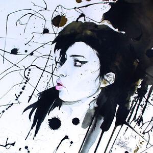 AMY-WINEHOUSE-UNCUT-LITHOGRAPH-ART-POSTER-LAUR-ZOMBIE-2011-EX-RARE