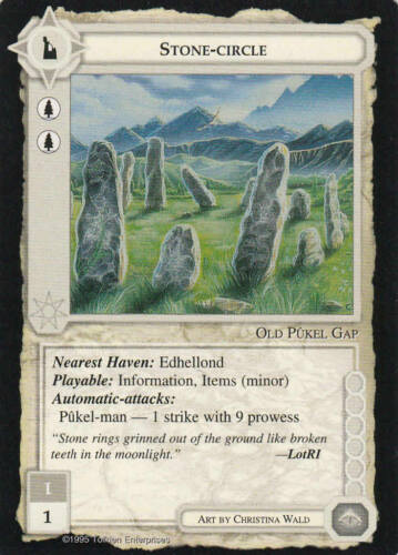 Lim.Ed Mint//N.Mint 1995 ME74 Stone-Circle Middle Earth The Wizards CCG b.b