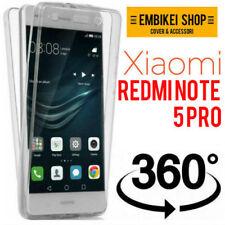 Custodia Xiaomi Redmi Note 5 Finestra Sportellino Portacarte Cover Silicone Oro