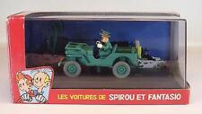 Atlas 1/43 Spirou & Fantasio Willys MB Jeep OVP #1668