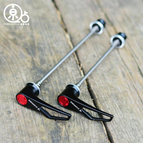 Ti Axle With CNC Alloy MTB Bike Quick Release Skewer QR 100//135mm Red Black