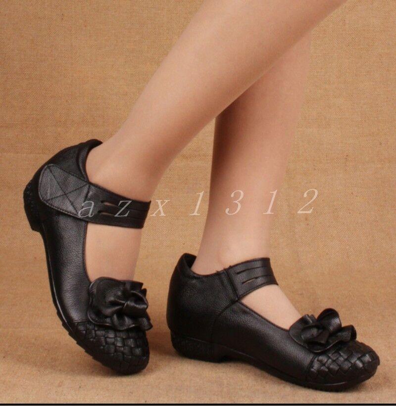 divertiti con uno sconto del 30-50% Ladies Leather Ankle Straps Soft Comfortable donna Weave Flower Flower Flower scarpe SZ  alla moda