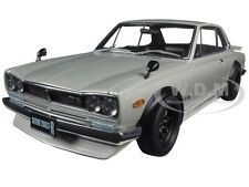 NISSAN SKYLINE GT-R (KPGC10) TUNED VERSION SILVER 1/18 MODEL BY AUTOART 77441