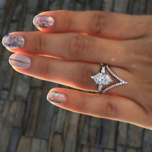 Elegant-White-Sapphire-Wedding-Engagement-Ring-Women-Jewelry-Size-6-10