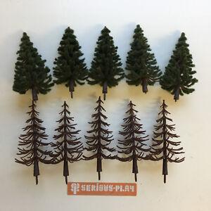 S-P-Spruce-Trees-B-Model-Scenery-Railway-Wargames-Plastic-christmas-Forest-xmas