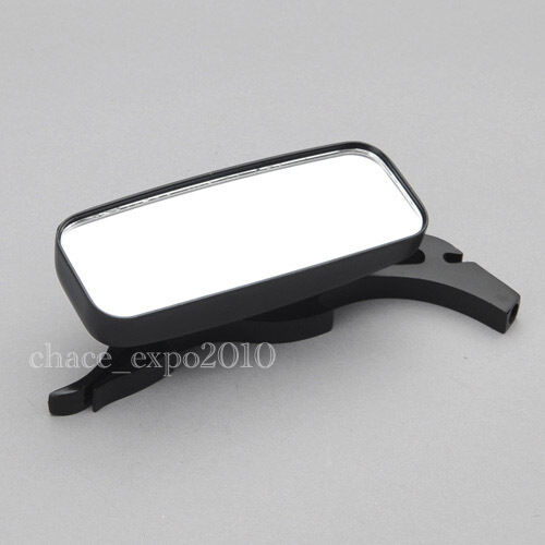 Black CNC Rearview Zinc Alloy Side Mirrors Motorcycle Cafe Racer Bobber Clubman