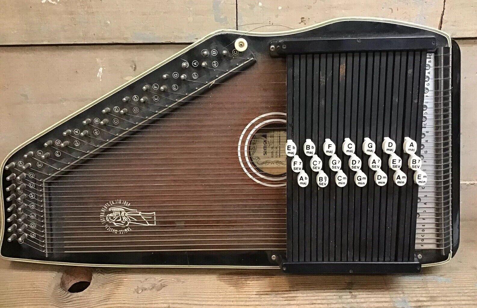 Samick Instruments SH-21 21 Cord Chroma Harp Made In Korea Autoharp