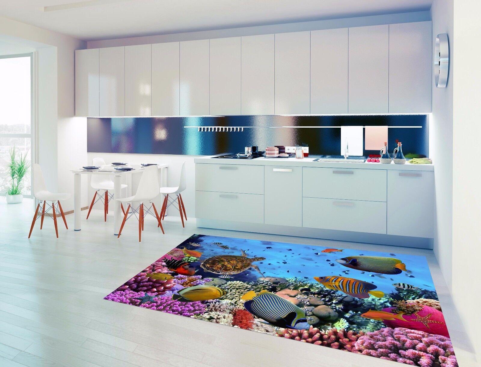 3D Fish Turtles 7 Kitchen Mat Floor Murals Wall Print Wall AJ WALLPAPER AU Carly