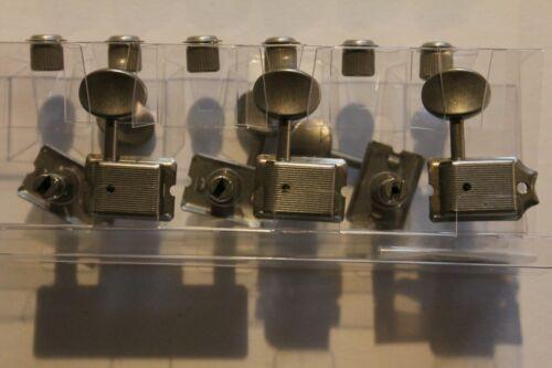 Gotoh 57 er Kluson deluxe Mechaniken Nickel geaged vertikal Linie mit Zubehör