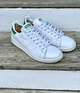 pretty nice a1e24 1a40c Details about Stan Smith Adidas Size 10 Green & White