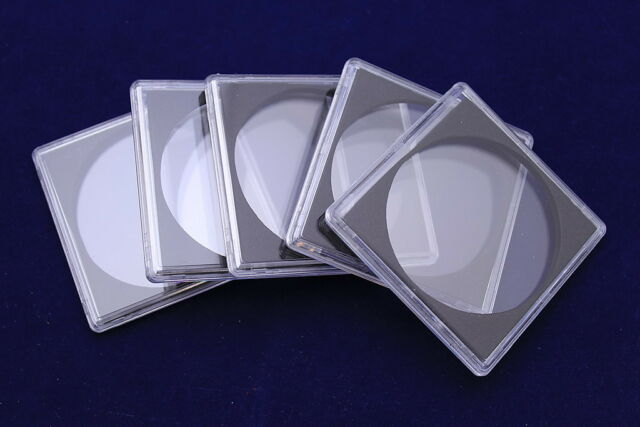 58mm - 5 XL Quadrum Square Coin Capsule Holders for Large Coins & Medals