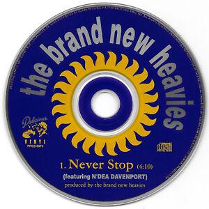 BRAND NEW HEAVIES - Never Stop (CD Promo 1991) 1 Track Single N'dea Davenport