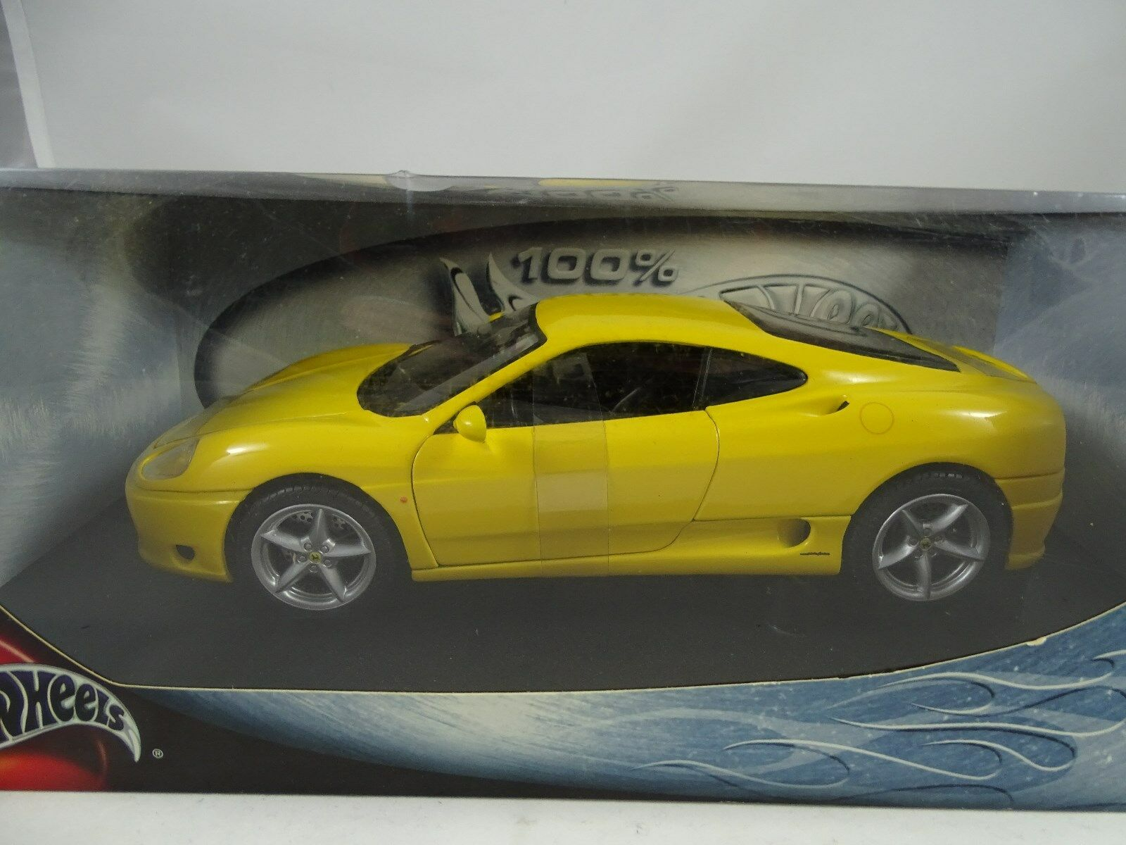 1:18 HOT WHEELS-FERRARI 360 Modena YELLOW GIALLO-rarità §