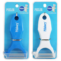 2pc Pillsbury Doughboy Kitchen Tool Fruit Vegetable Potato Peeler Blue N White