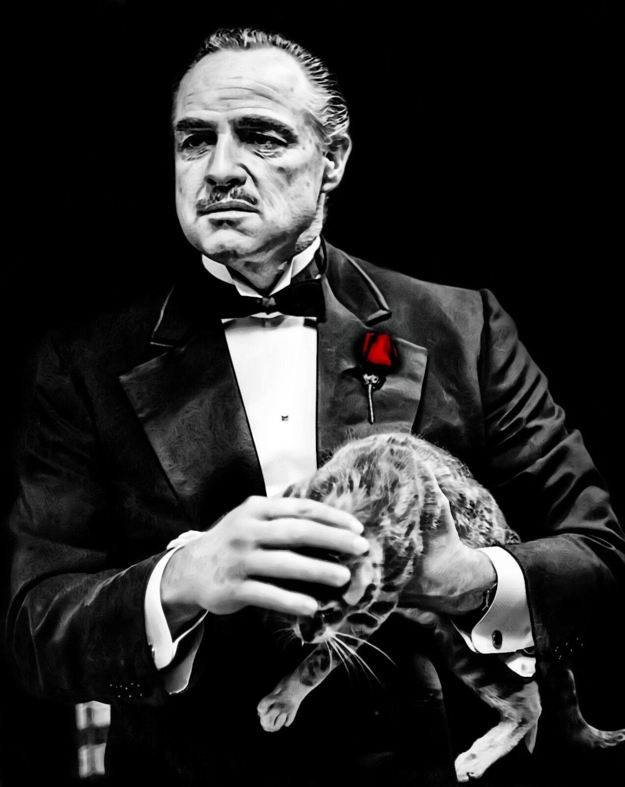 Il PADRINO-Don Corleone GANGSTER MOVIE art poster di grandi dimensioni tela foto