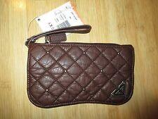 NEW* ROXY Wristlet CLUTCH WALLET Handbag Bag ID VEGAN Brown