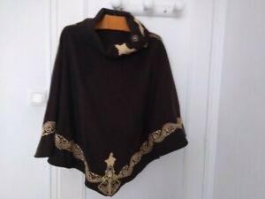 cape Poncho Marocainen Marron cape Poncho Cachemire Marocainen cape Marron Poncho Marocainen Cachemire ZS5Pcq5nf