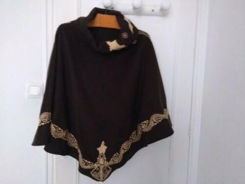 Marocainen cape Poncho Cachemire Marron Poncho cape Cachemire Marocainen n8X1B