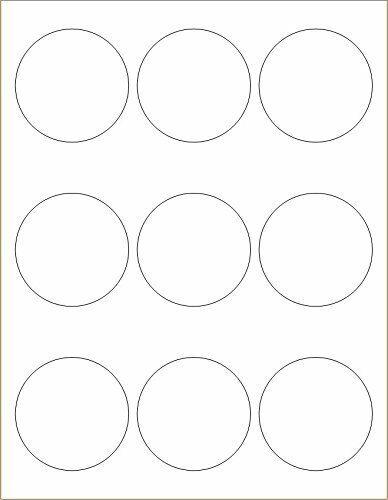"""2 1//2 inch Digiorange 2700 Labels 2.5/"""" diameter circle 9 per sheet labels"""