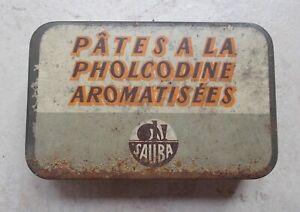 Ancienne-boite-Metal-Tole-Pates-a-la-Pholcodine-Sauba-Pharmacie