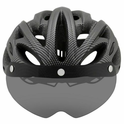 Ultralight Cycling Helmet With Removable Visor Goggle Bike Taillight Intergrally