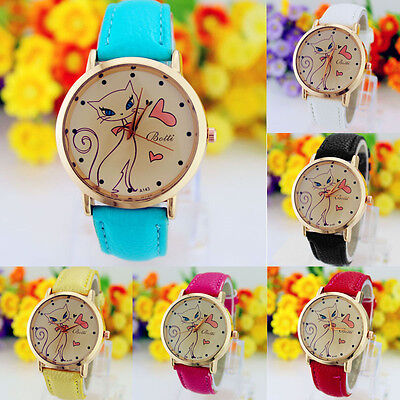 2015 Women Leather Watches Lady Casual Watch Analog Quartz Wristwatch 6 Colors