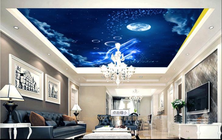 3D Moon Bubble Sky Ceiling WallPaper Murals Wall Print Decal AJ WALLPAPER US