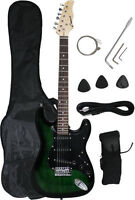 ~Sale New Crescent GREEN/BLACK Electric Guitar+Strap+Gigbag+WARRANTY