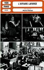 Movie Card. Fiche Cinéma. L'affaire Lafarge (France) Pierre Chenal 1938