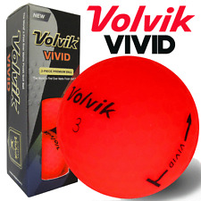 """NEW 2017"" VOLVIK VIVID MATTE FINISH 3 PIECE GOLF BALLS / RED / 3 BALL PACK"
