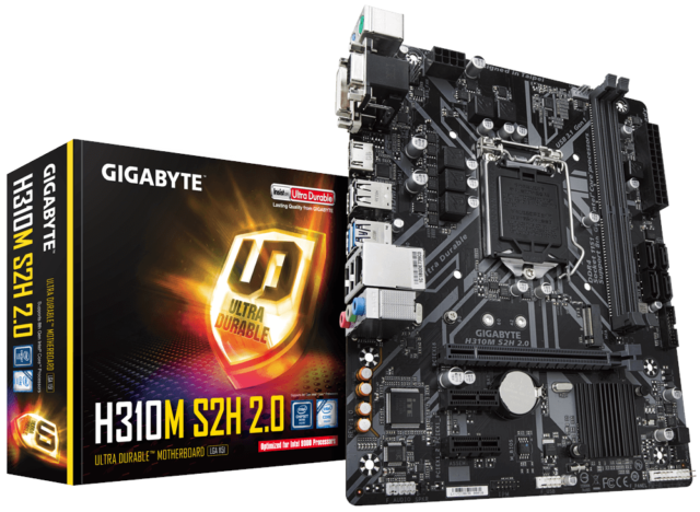 Gigabyte H310M S2H 2.0 mATX Motherboard for Intel 1151 CPUs
