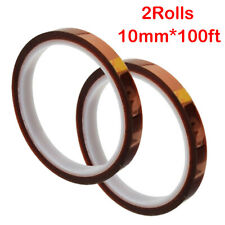 2 Rolls Heat Resistant Tapes Sublimation Press Transfer Thermal Tape 10mm32m