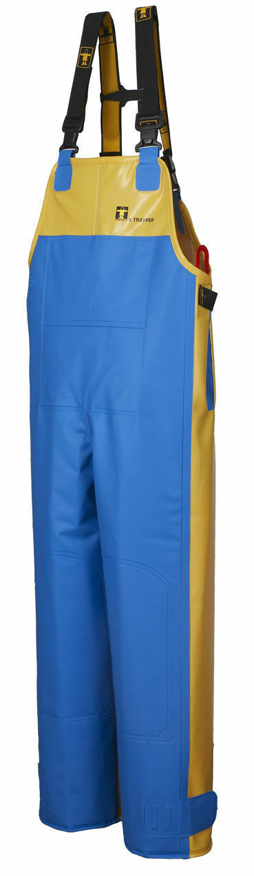 GUY COTTEN XTRAPPER BIB TROUSERS COMMERCIAL FOUL WEATHER RAIN GEAR blugiallo