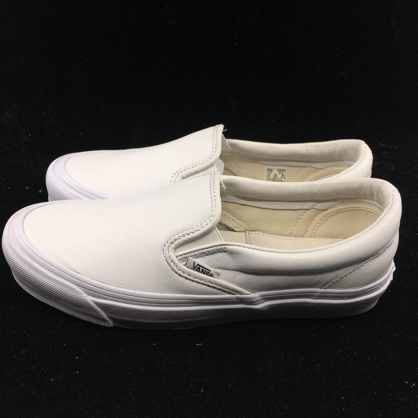 Vans Vault Uomo OG Classic Slip-On White Pelle Uomo Vault Donna Skate Boarding VN000UDF1NT 547ec3