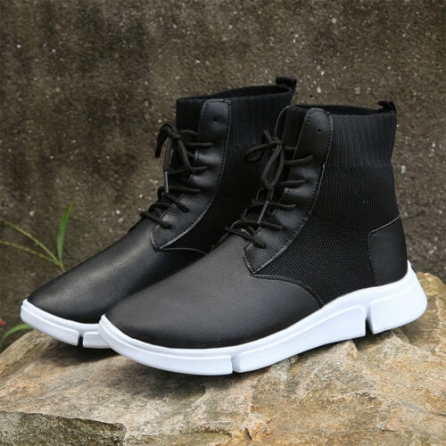 Women Casual High-top Sneakers Sock Shoes High Trainer Athletic Jogger Boots US