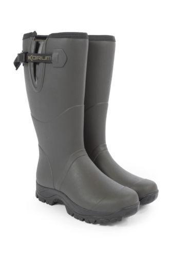 Korum Neoprene   Rubber Boots All Sizes