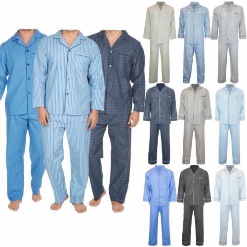 Da Uomo Puntini Strisce Sul Davanti Colletto tradizionale notte di sonno Suit Pigiama Pj Co-Ord Set