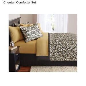 New-Cheetah-Full-Size-Comforter-Set-Bedding-Bedspread-With-Sheets-Bed-In-a-Bag