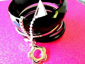 Black-amp-Silver-Bangle-Bracelets