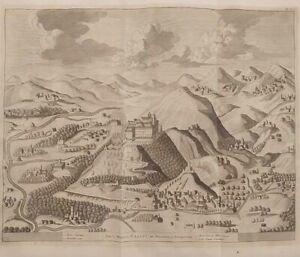 1723 Van der Aa Veduta Montecassino Sacri Montis Casini ac Monasterii Prospectus