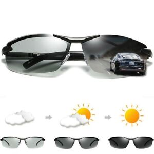 1818b644f80 Image is loading Men-039-s-Photo-chromatic-Polarized-Sunglasses-Outdoor-