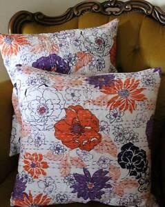 Floral-Cushion-Cover-Cotton-Vintage-Style-White-Kantha-Sofa-Pillow-Throw-Decor