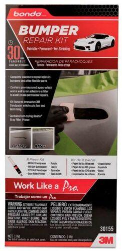 8 Piece 3M Bondo Bumper Repair Kit Auto Car Care Paintable Automotive Detail