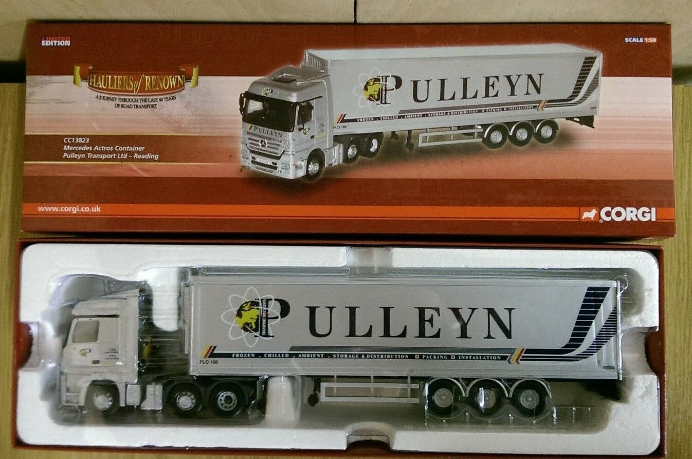 Corgi CC13823 MERCEDES ACTROS CONTAINER Pulleyn Trans. Ltd Modifier no 0312 de 1500