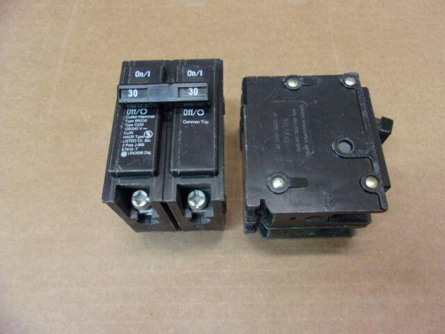 New EATON BR 2 pole 30 amp 120//240v BR230 Circuit Breaker Cutler Hammer