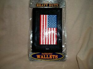 Wallet With the American Flag Embroidered Onto It