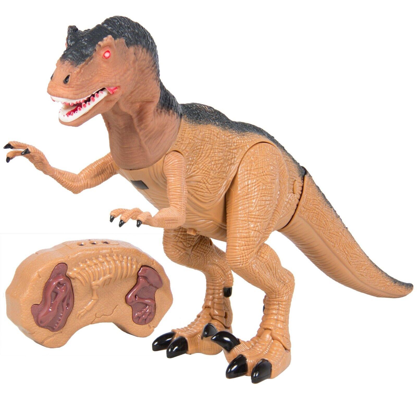 Fernbedienung giganotosaurus rc walking dinosaurier licht & klingt junge tier - spielzeug