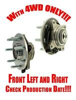 Ford F150 04-05 4wd 7 Lugs Front L & R Wheel Hub Bearings Check Production Date