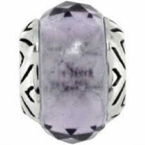 New Brighton ABC Light Purple AMETHYST Faceted TRANSPARENCY Charm Bead   RETIRED