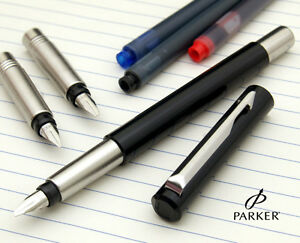 Image is loading Parker-Vector-Calligraphy-Fountain-Pen-Set-GIFT-BOX-